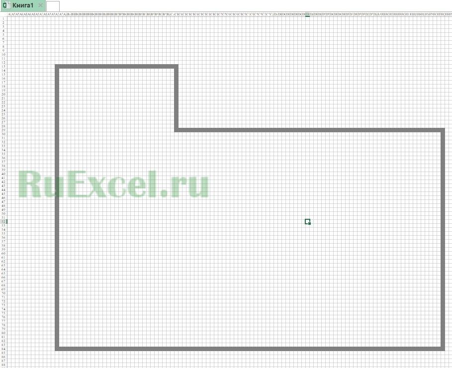 План помещения в Excel