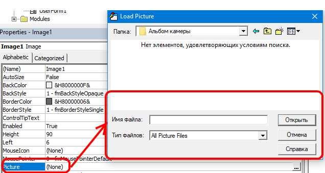 Вставить Картинку в User Form Excel